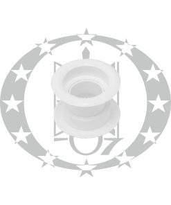 Пластикова вентиляція кругла біла