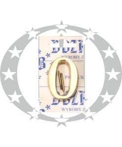 Знак малий цифра 0 латунь (5 см)