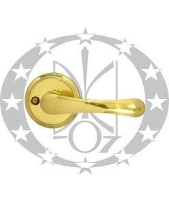 Ручка дверна Metal-Bud BISZKOPT з підпружиненням розета латунь