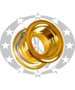 Пластикова вентиляція кругла золотиста