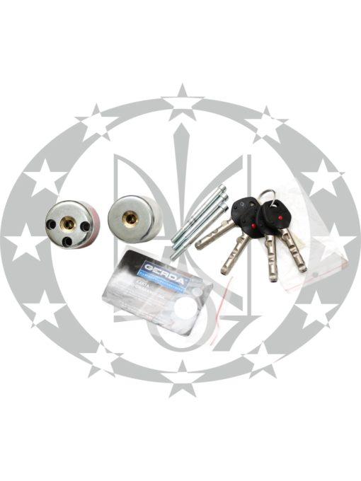 Серцевина GERDA RIM6000Sцинк старий варіант 4 ключі