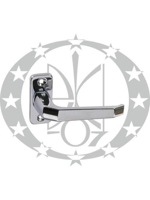 Ручка дверна Czestochowa K-90 ZB роздільна планка PZ нікель