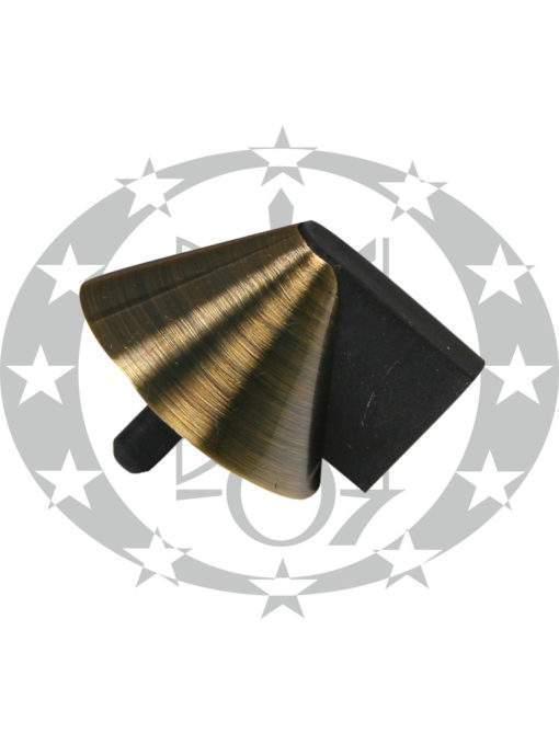 Обмежувач дверний Конус бронза
