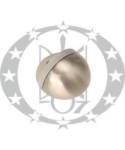 Обмежувач дверний півсфера нікель сатинований