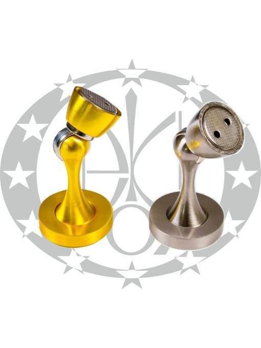 Магнітний дверний обмежувач Metal-Bud нікель сатин