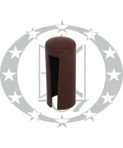 Накладка пластикова плоска Ф16 коричнева