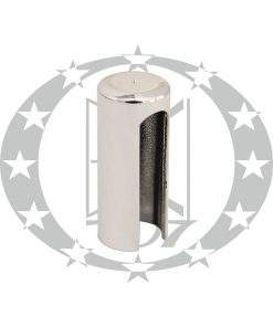 Накладка довга пластикова плоска Ф13,5 хром