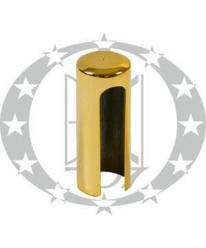 Накладка довга пластикова плоска Ф13,5 золото
