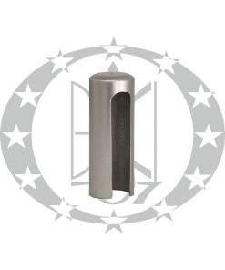 Накладка довга пластикова плоска Ф13,5 хром сатинований