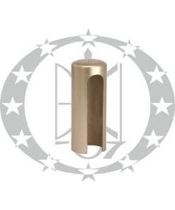Накладка довга пластикова плоска Ф13,5 нікель сатинований