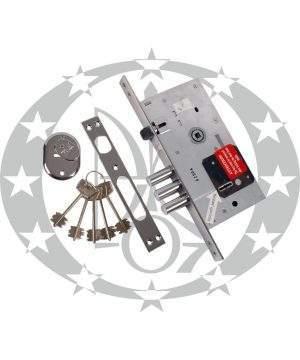 Механізм врізний ключ KALE №252 L-5 85/60 хром