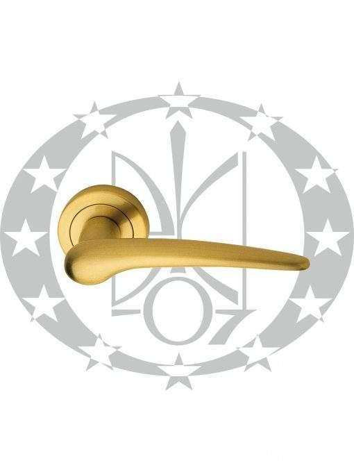 Ручка дверна Linea Cali PIN UP 103 розета латунь сатин(200925RO81030000OS)