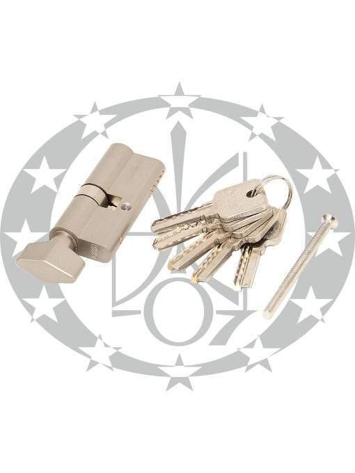 Серцевина GMB горизонтальний ключ 30/40 вороток нікель