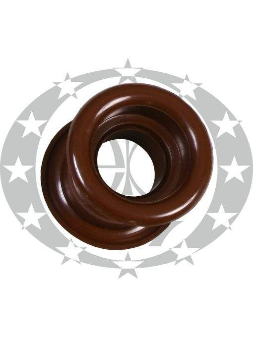 Пластикова вентиляція кругла коричнева