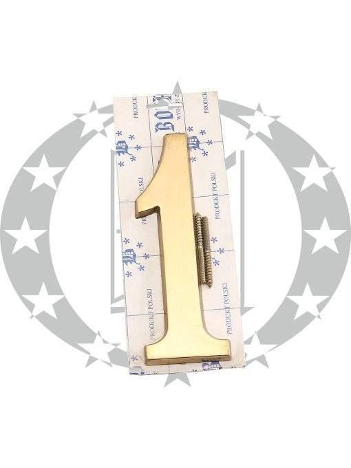 """Знак великий """"Цифра 1"""" латунь"""