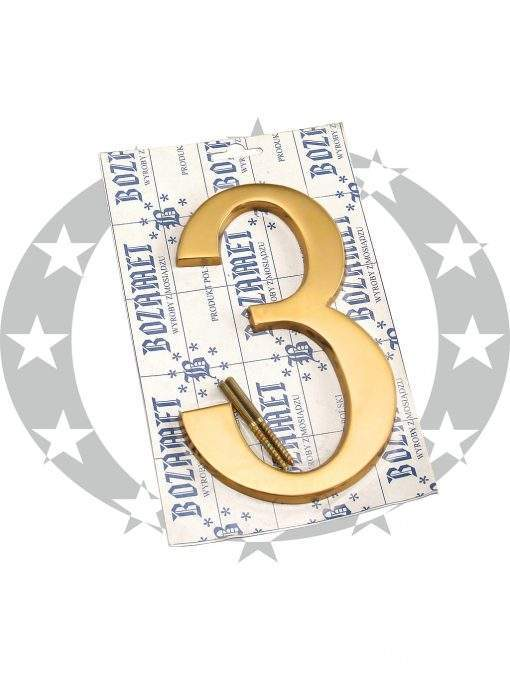 """Знак великий """"Цифра 3"""" латунь"""