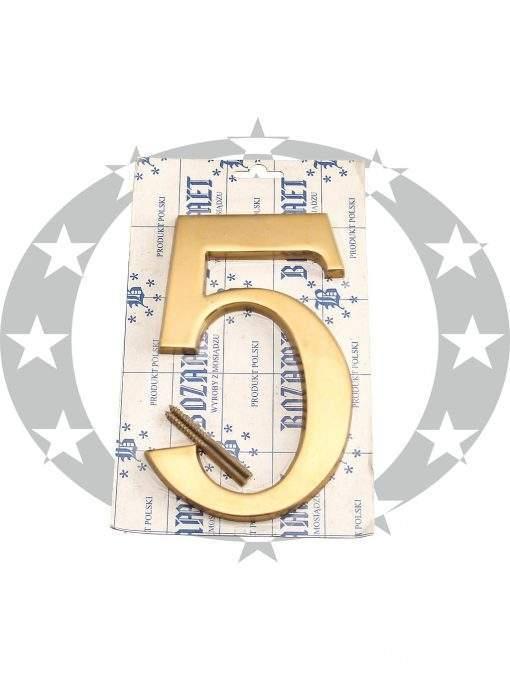 """Знак великий """"Цифра 5"""" латунь"""