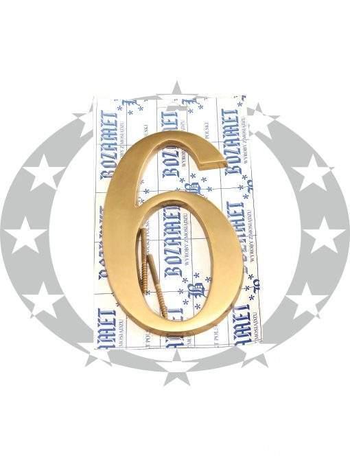 """Знак великий """"Цифра 6"""" латунь"""