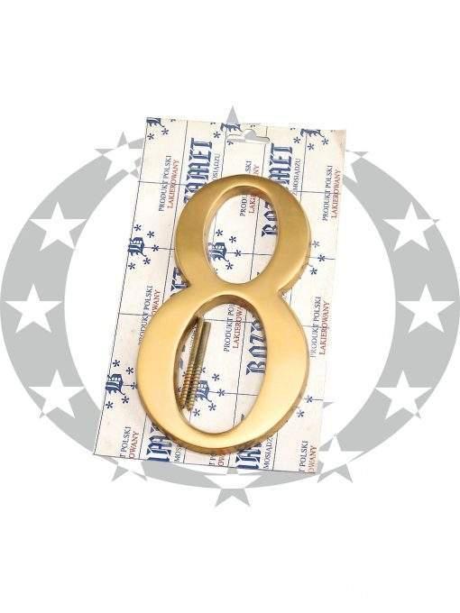 """Знак великий """"Цифра 8"""" латунь"""