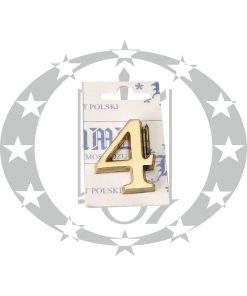 Знак малий цифра 4 латунь