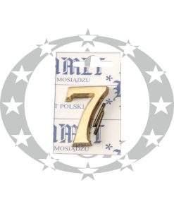 Знак малий цифра 7 латунь