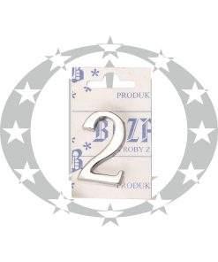 Знак малий цифра 2 хром