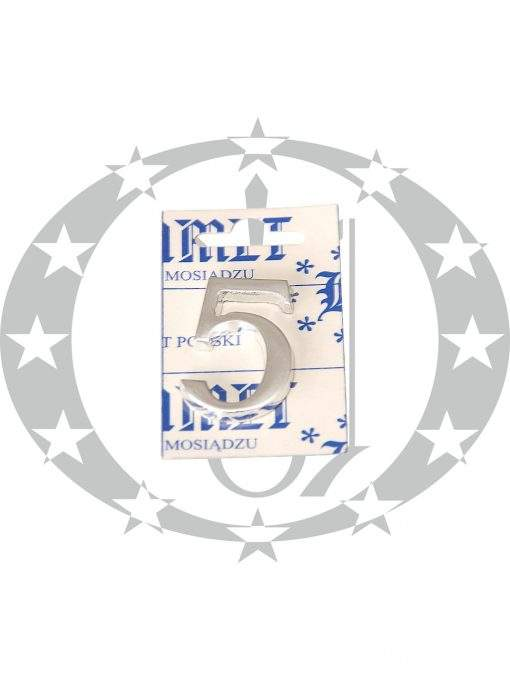 Знак малий цифра 5 хром