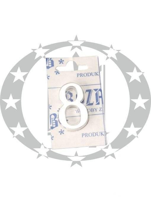 Знак малий цифра 8 хром