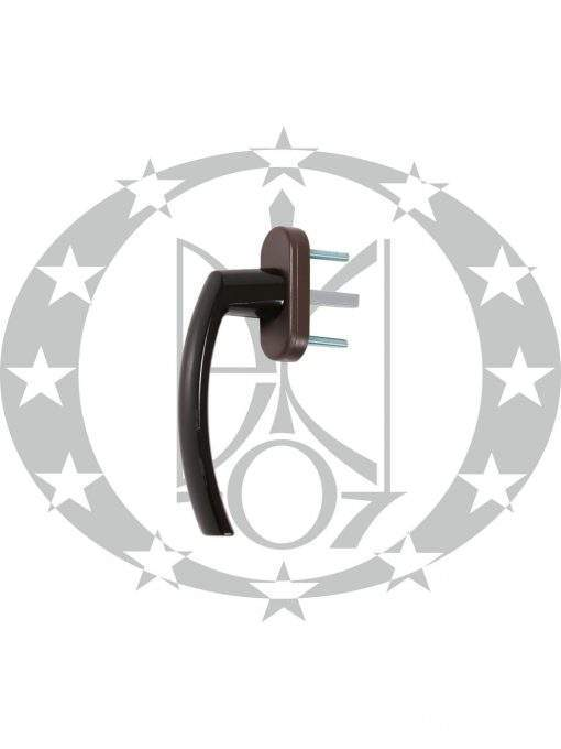 Ручка віконна DR FAM металева коричнева