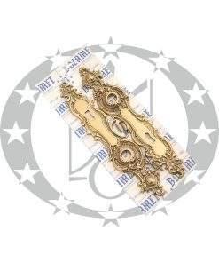 Латунна планка з отвором під ключ для церковної ручки