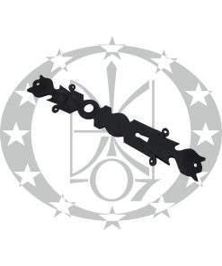 Кований шилд планка ключ чорний