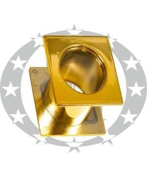 Пластикова вентиляція WC квадратна золото