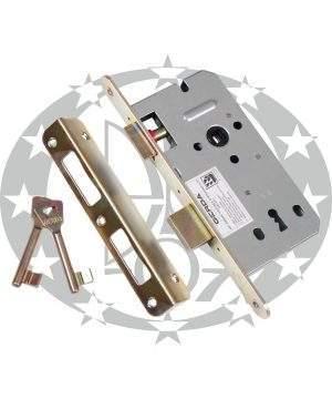 Механізм врізний під ключ GERDA ZW - 100 72/50 цинк жовтий