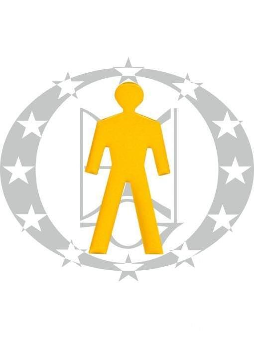 Знак-самоклейка WC C1510 ANO латунь