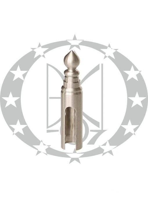 Накладка на завіс декоративна гостроверха Ф16 нікель сатиновий