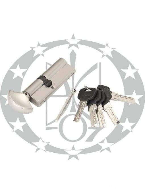 Серцевина GERDA WKM-1 54/37 горизонтальний ключ вороток нікель сатин