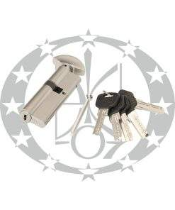 Серцевина GERDA WKM-1 37/54 горизонтальний ключ вороток нікель сатин