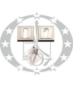 """Квадратна дверна накладка під серцевину """"Metal-Bud ALFA"""" PZ нікель сатинований"""