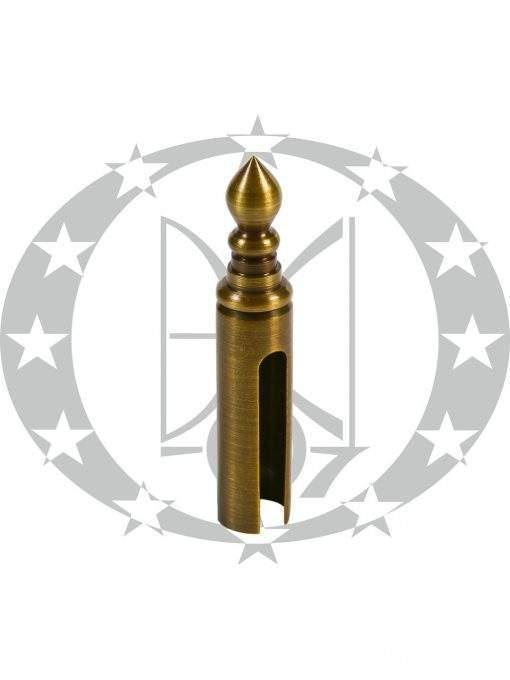 Накладка декоративна гостроверха Ф14 бронза