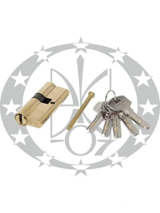 Серцевина A&B горизонтальний ключ 30/35 латунь