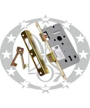 Механізм врізний під ключ GERDA ZW - 100 90/50 цинк жовтий
