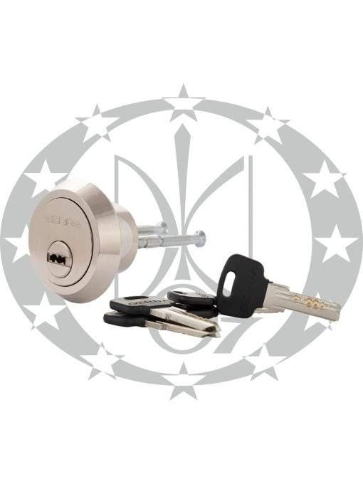 Серцевина GERDA RIM M-1 горизонтальний ключ до накладного замка нікель сатин