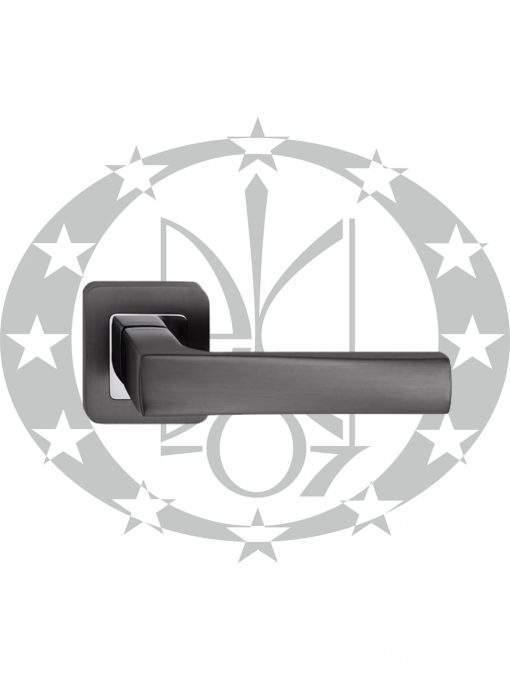 Ручка дверна Metal-Bud IBIZA квадратна розета графіт/хром (ZIBZG)
