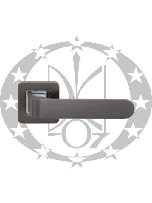 Ручка дверна Metal-Bud RIO квадратна розета графіт/хром
