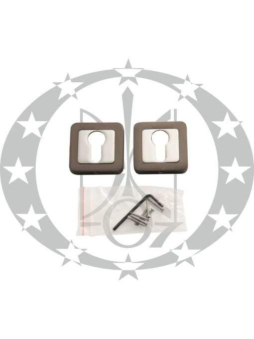 """Квадратна дверна накладка під серцевину """"Metal-BUd IBIZA"""" PZ графіт/хром (SZZGY)"""