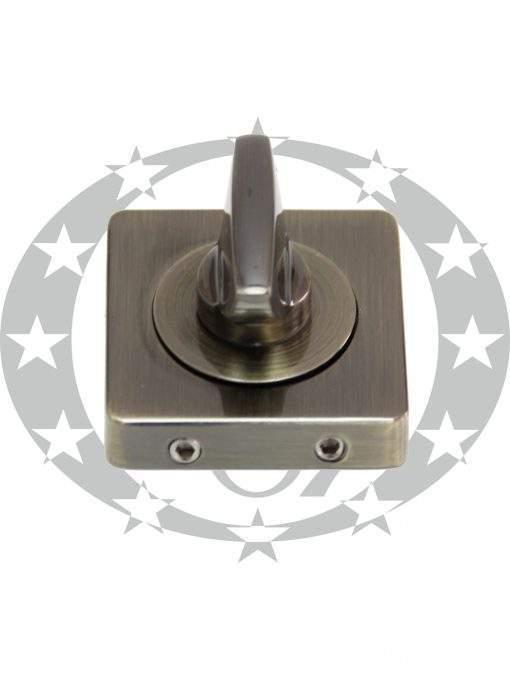 Дверна накладка з воротком Gamet PLT-24Z-WC-AB-KW-BL WC