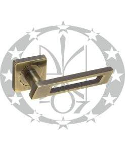 Ручка дверна Gamet FINESTRO DH-92A-24Z-AB-KW-BL розета
