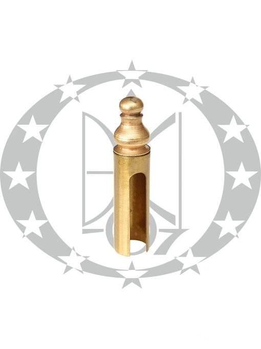 Накладка на завіси Ф20 декоративна латунь сатин