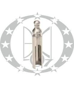 Накладка на завіси декоративна Ф14 нікель сатин