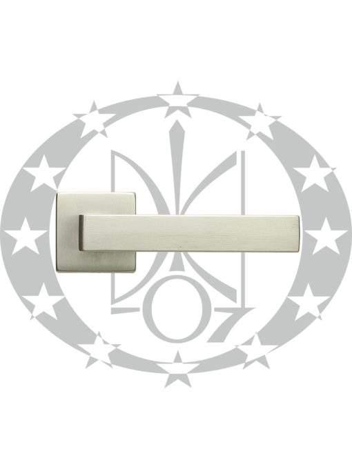 Ручка дверна DND QUATTRO 02-Z VIS квадратна розета PZ ZCS хром сатинований